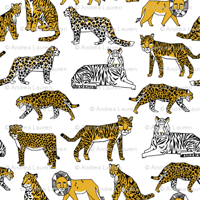 lion tigers // safari tiger lions zoo africa gold yellow mustard