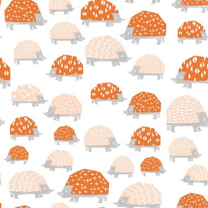 Hedgehogs - Blush/Orange by Andrea Lauren