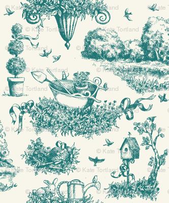 Garden Toile - Teal