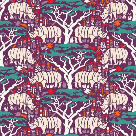 Rhinoceros  fabric by mag-o on Spoonflower - custom fabric