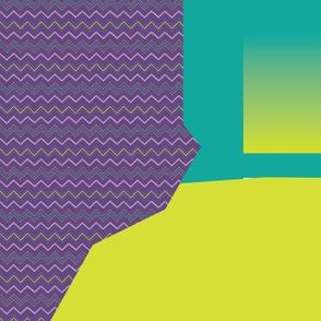 "VNA Top ""Zigzag"" in purple/citrine/teal"