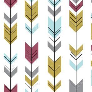 Fletching arrows // blue/grey/gold/plum