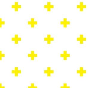 yellow swiss cross