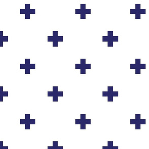 navy blue swiss cross
