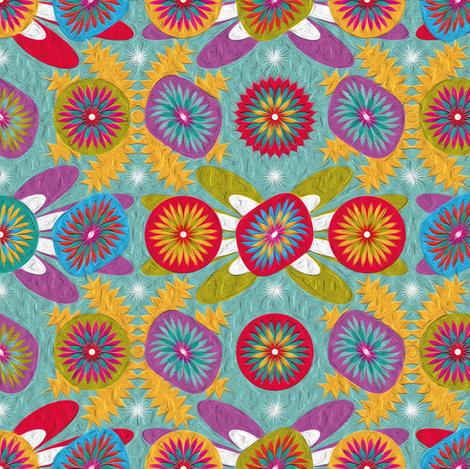 Aztec-Blue-grey fabric by leventetladiscorde on Spoonflower - custom fabric