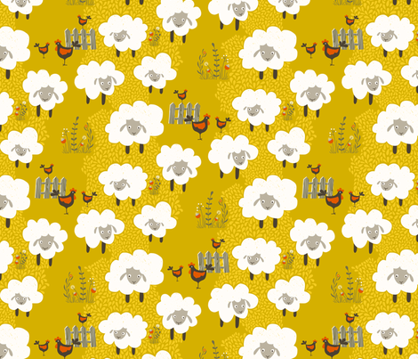 Counting Sheep fabric by zesti on Spoonflower - custom fabric
