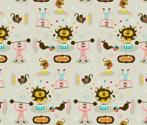 The Circus fabric by zesti on Spoonflower - custom fabric