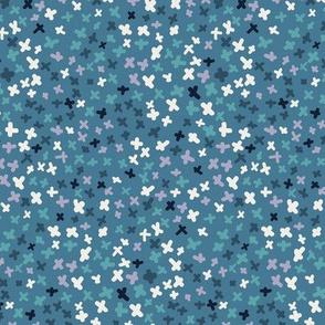 Ditsy stars - blue