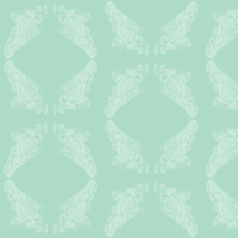 Lace mint fabric by arrpdesign on Spoonflower - custom fabric