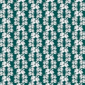 Victorian Water Lilies Flower Fabric 14