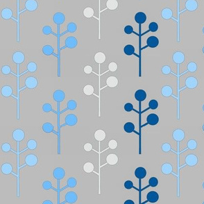 Mod Trees - blue/grey