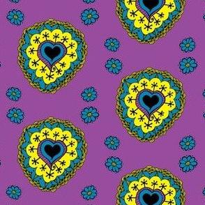 Happy Heart Doodle Tile