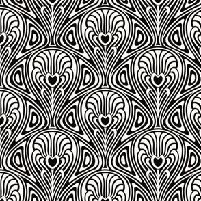 Nouveau Swirl black and white