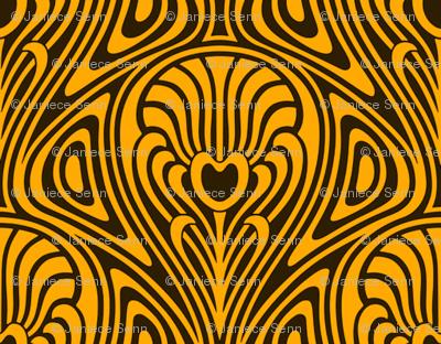 Nouveau swirl gold