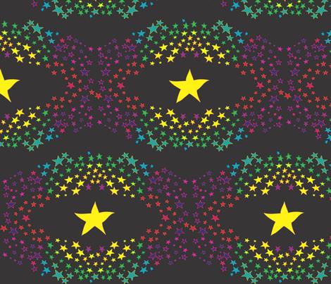 Night Magic infinity black fabric by colour_angel_by_kv on Spoonflower - custom fabric
