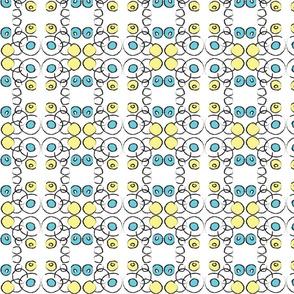 Aqua and Yellow Circles