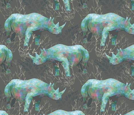 Rhinoceros fabric by robynie on Spoonflower - custom fabric