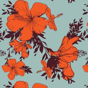 Hibiscus pattern 08