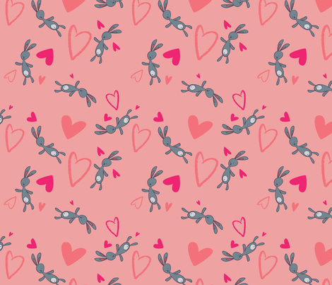 Bunny pattern  fabric by smileysunday on Spoonflower - custom fabric