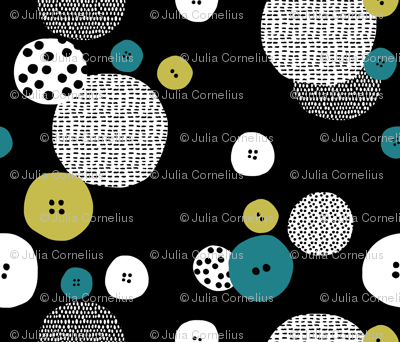 buttons on black  – large scale