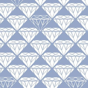 white facet diamonds on blue-grey