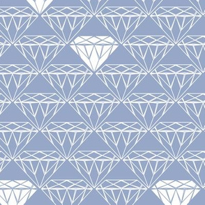 white line diamonds on blue-grey