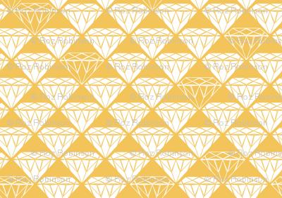 white facet diamonds on mustard