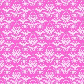 Skull Damask Pink/Pink
