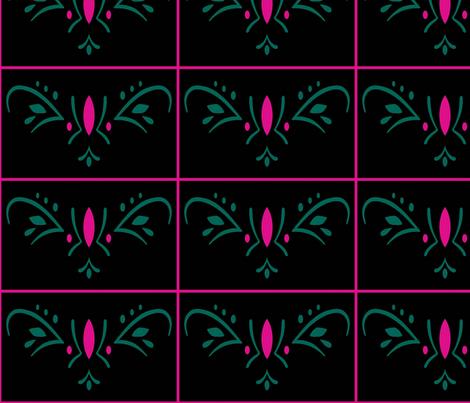 Coronation Flower fabric by cindersonfiber on Spoonflower - custom fabric