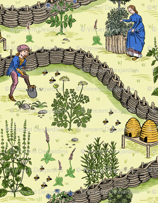Medieval Herb Garden Color 1