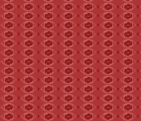 PilgrimRowsRed fabric by tammikins on Spoonflower - custom fabric