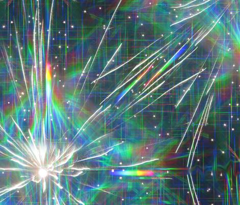 rainbow sparks fabric by weavingmajor on Spoonflower - custom fabric