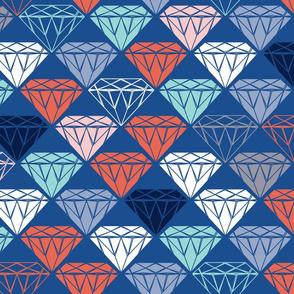 blue cut diamonds - multi