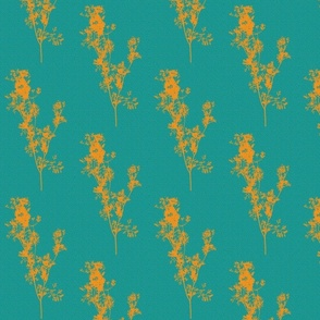 Summer Zest Sunshine Silhouettes on Teal