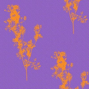 Summer Zest Sunshine Silhouettes on Purple