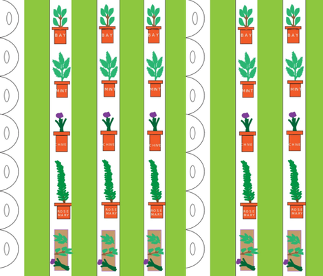Herb Garden Stripes fabric by ideaworks on Spoonflower - custom fabric