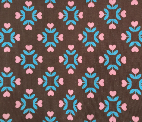 Coffee! Hearts Flowers Coordinating Fabric I