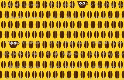 Coffee! Coffee Beans Coordinating Fabric II