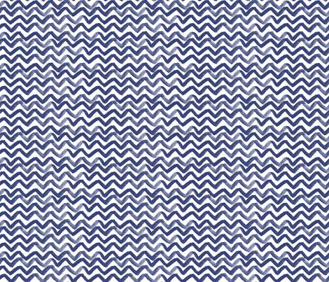 Zig Zag waves Navy fabric by jillbyers on Spoonflower - custom fabric