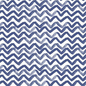 Zig Zag waves Navy