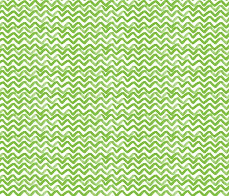 Zig Zag waves Green fabric by jillbyers on Spoonflower - custom fabric