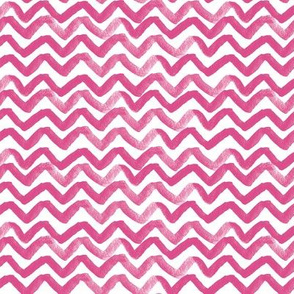 Zig Zag waves Bright Pink