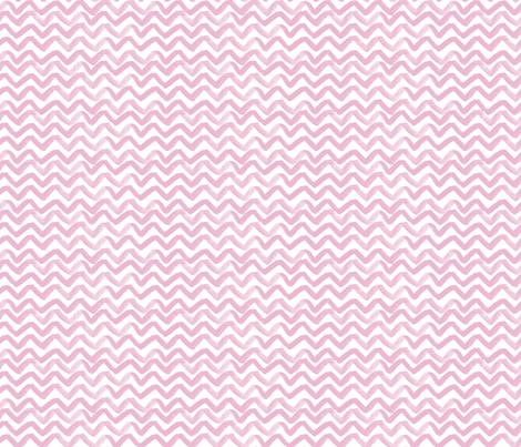 Zig Zag waves Pink fabric by jillbyers on Spoonflower - custom fabric