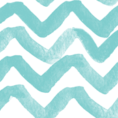 Zig Zag waves turquoise
