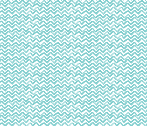 Zig Zag waves turquoise fabric by jillbyers on Spoonflower - custom fabric