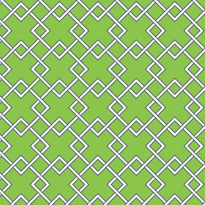 lattice Bright GREEN navy