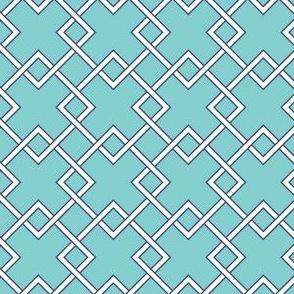 lattice Turquoise navy