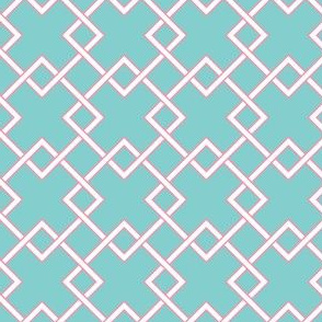 lattice Turquoise pink