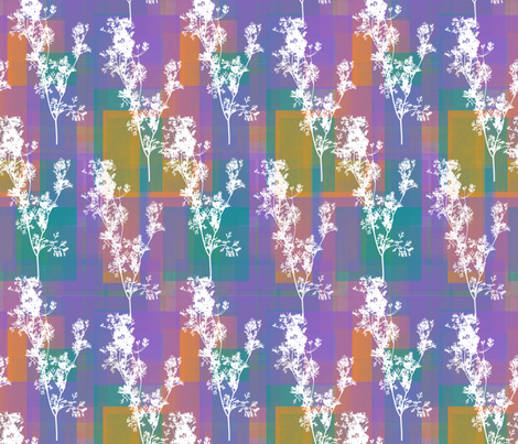Cilantro Sprigs on Zesty Summer Rectangles fabric by anniedeb on Spoonflower - custom fabric