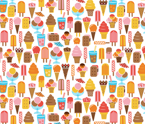 Lunch At The Ice Cream Parlour fabric by studio_amelie on Spoonflower - custom fabric